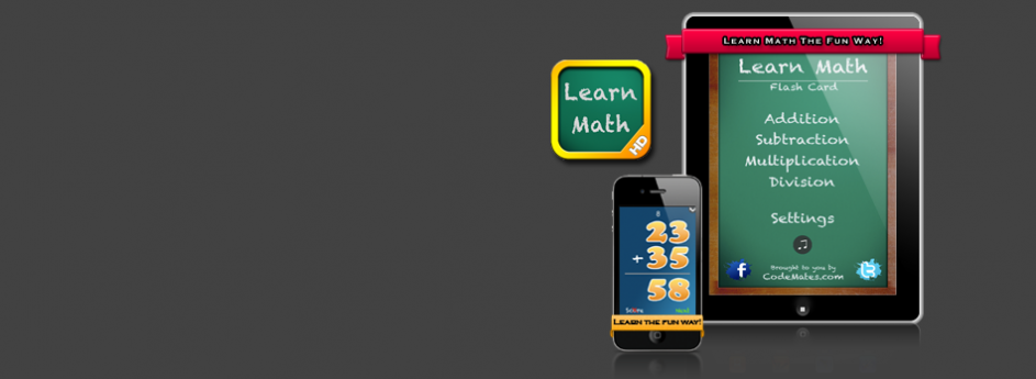 Learn Math Flash Cards (iPhone & iPad)